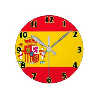 スペインの旗の柱時計 ラウンド壁時計