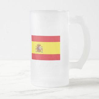 スペインの旗インターナショナル フロストグラスビールジョッキ