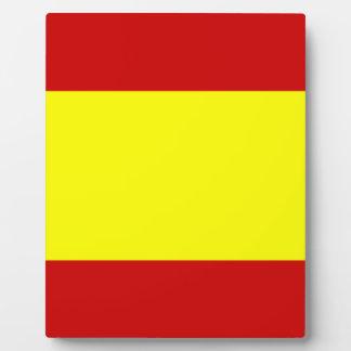 スペインの旗 フォトプラーク