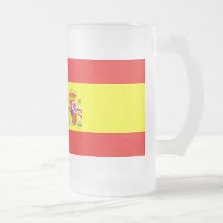 スペインの旗 フロストグラスビールジョッキ