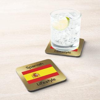 スペインの旗+文字のコースター コースター