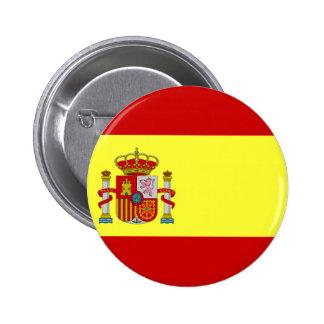 スペインの旗 5.7CM 丸型バッジ