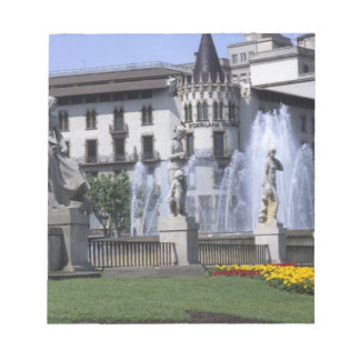 スペインの生命美しい広場カタルニャとの ノートパッド