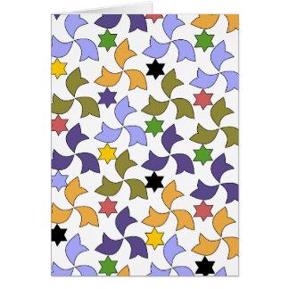 スペイン人のアルハンブラのスタイルのタイルのモザイク模様 カード