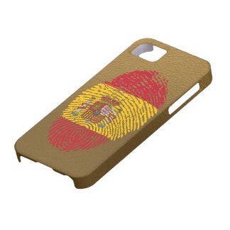 スペイン人のtouchの指紋の旗 iPhone SE/5/5s ケース