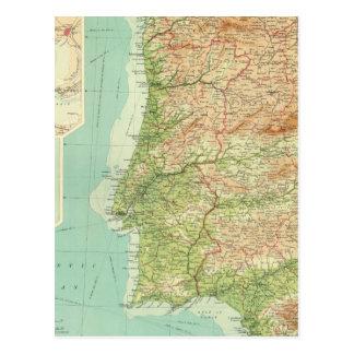 スペイン及びポルトガルの西部セクション ポストカード