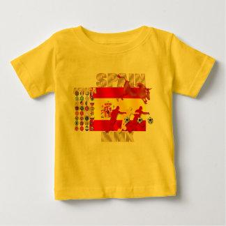 スペイン大きいEspañaの旗の激怒する雄牛のトロのギフト ベビーTシャツ