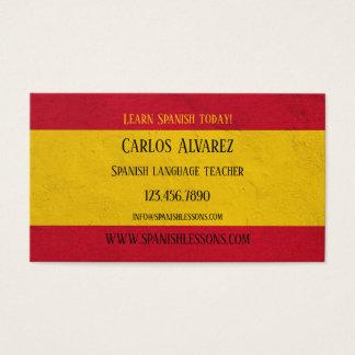 スペイン語の先生の名刺 名刺