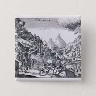 スペイン語北アメリカのGuatemala', 5.1cm 正方形バッジ