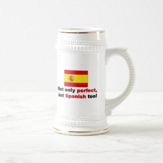 スペイン語完成すれば ビールジョッキ