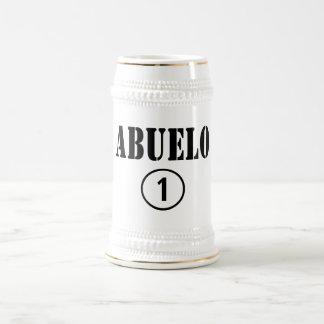 スペイン語祖父: Abuelo Numero Uno ビールジョッキ