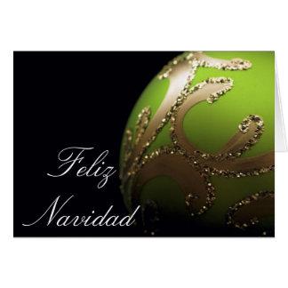 スペイン語- Feliz Navidad -カード カード