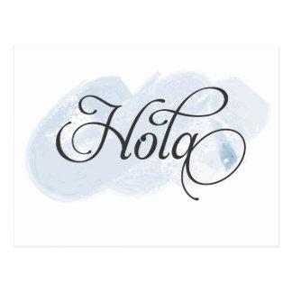 スペイン語- Hola ポストカード