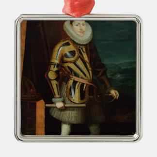 スペイン1606年のフィリップIII王 メタルオーナメント