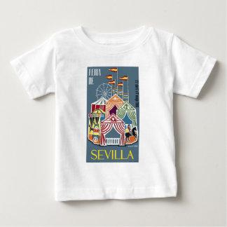 スペイン1960年のセヴィルのフェスティバルポスター ベビーTシャツ