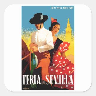 スペイン1961年のセヴィル4月の公平なポスター スクエアシール