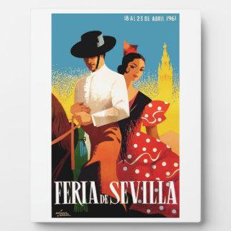 スペイン1961年のセヴィル4月の公平なポスター フォトプラーク
