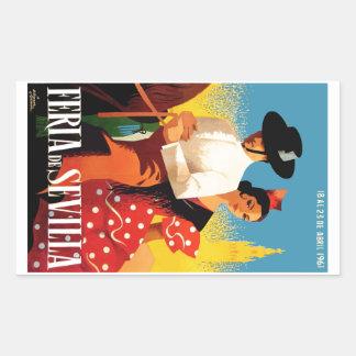 スペイン1961年のセヴィル4月の公平なポスター 長方形シール