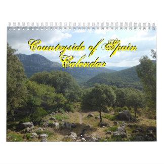 スペイン2016のカレンダーの田舎 カレンダー