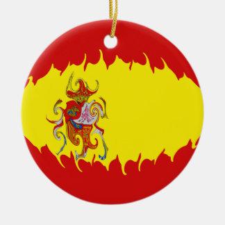 スペイン|すごい|旗 クリスマスオーナメント