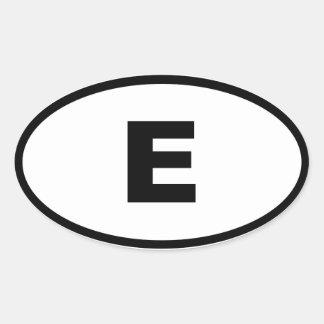 スペイン-エスパーニャ-ヨーロッパ人 楕円形シール