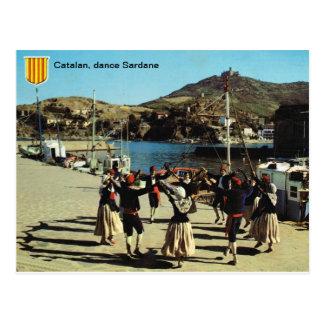 スペイン、カタロニア語、ダンスSardane ポストカード