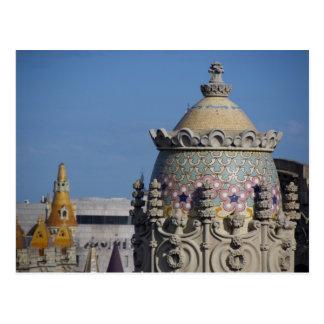 スペイン、カタロニア、バルセロナ。 バルセロナの屋根の上 ポストカード