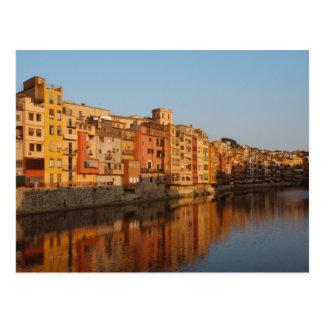 スペイン。 カタロニア。 Gerona。 Onyarの家 ポストカード