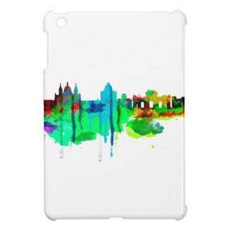 スペイン、マドリードのスカイラインの絵画 iPad MINIケース