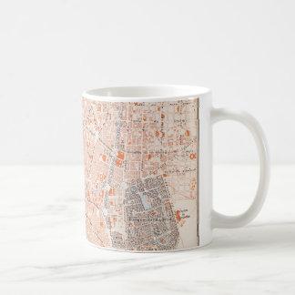 スペイン: マドリードの地図、C1920 コーヒーマグカップ