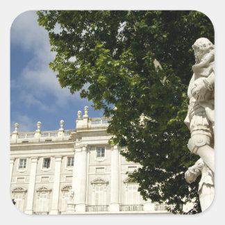 スペイン、マドリード。 王宮 スクエアシール