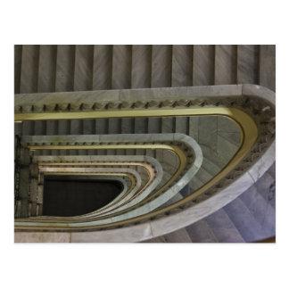 スペイン、マドリード、Circulo de Bellas Artesのstaircas 2 ポストカード