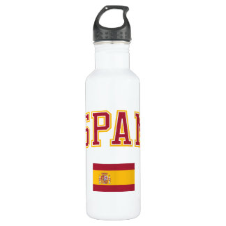 スペイン + 旗 ウォーターボトル