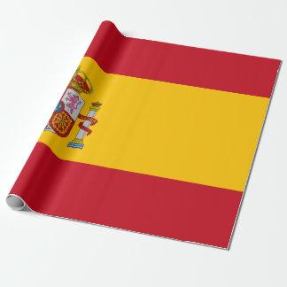 スペイン- Bandera deエスパーニャの旗 ラッピングペーパー