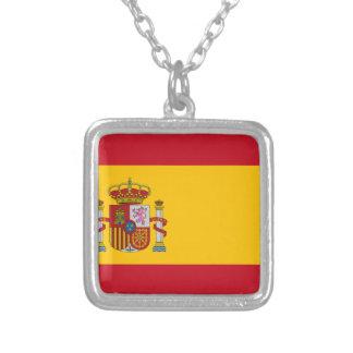スペイン- Bandera de Espanaaの旗-スペインのな旗 シルバープレートネックレス