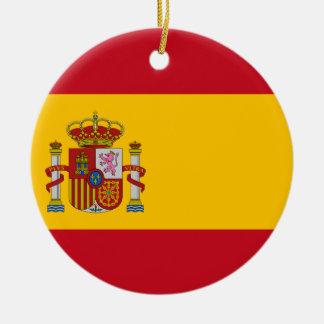 スペイン- Bandera de Espanaaの旗-スペインのな旗 セラミックオーナメント