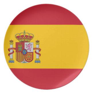 スペイン- Bandera de Espanaaの旗-スペインのな旗 プレート