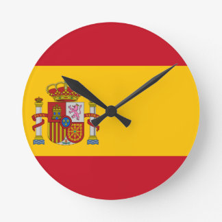 スペイン- Bandera de Espanaaの旗-スペインのな旗 ラウンド壁時計