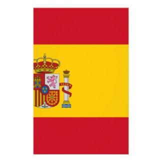 スペイン- Bandera de Espanaaの旗-スペインのな旗 便箋