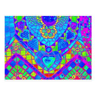 スペクトルのモザイク ポストカード