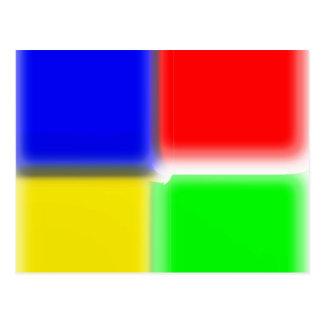 スペクトルの正方形色 ポストカード
