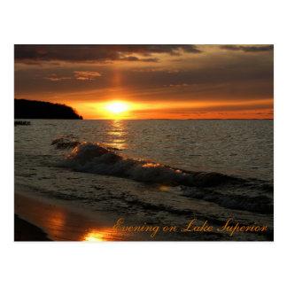 スペリオル湖の夕べ ポストカード