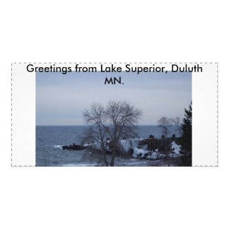 スペリオル湖の磁石および写真カード カード