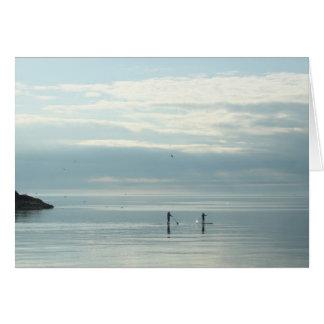 スペリオル湖のPaddleboardersを立てて下さい カード