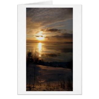 スペリオル湖2月の日没 カード