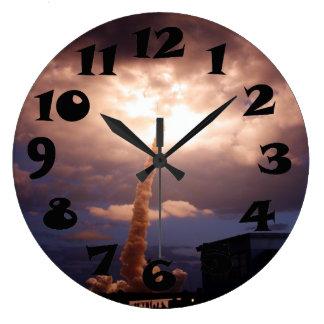 スペースシャトルの挑戦者の進水 ラージ壁時計
