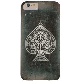 スペードのクールでグランジなレトロの芸術的なトランプのポーカーのエース BARELY THERE iPhone 6 PLUS ケース