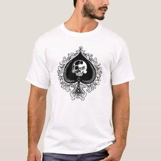 スペードのデザインのエース Tシャツ