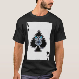 スペードのトランプのポーカーのワイシャツの収穫者のエース Tシャツ