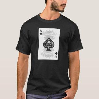 スペードのトランプのポーカーカードのエース: Tシャツ